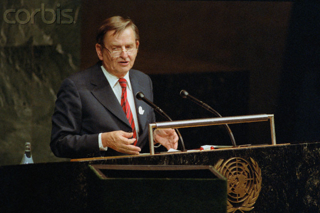 Olof Palme Speaking to United Nations